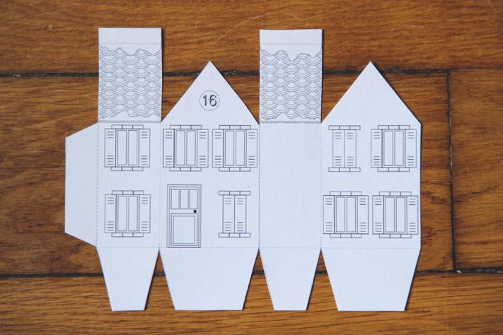 Une ville pour l 39 avent la mouflette - Patron de maison en papier a imprimer ...