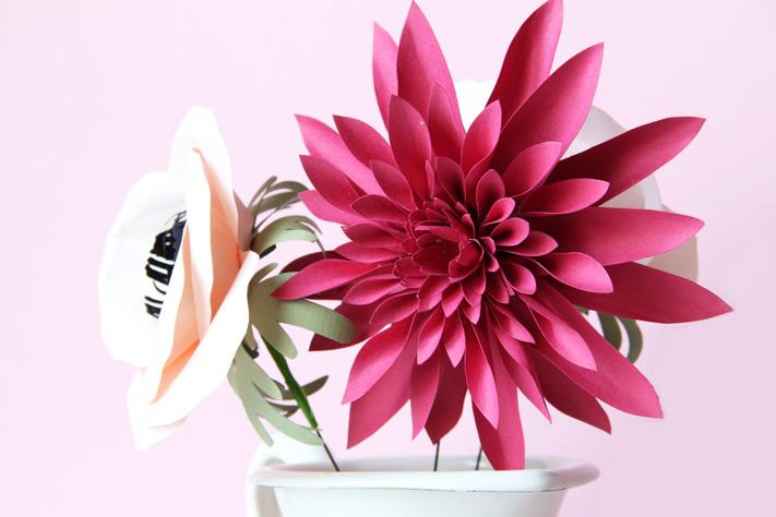 s 39 offrir des fleurs en papiers la mouflette. Black Bedroom Furniture Sets. Home Design Ideas